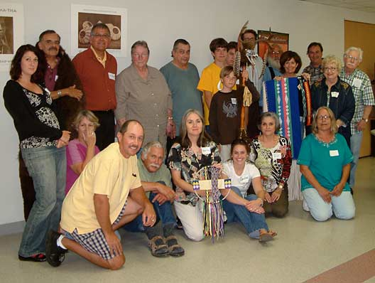Attendees of the Osage gathering in Santa Rosa